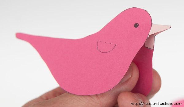 Птичка из бумаги. Шаблон (2) (600x350, 55Kb)