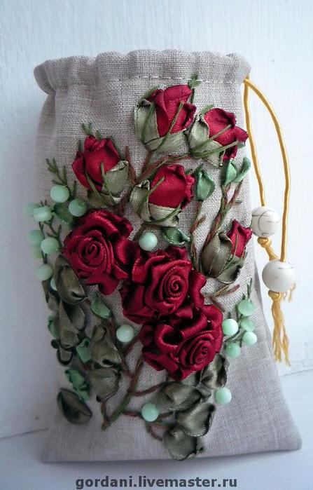 Роза. Вышивка лентами (2) (447x700, 341Kb)