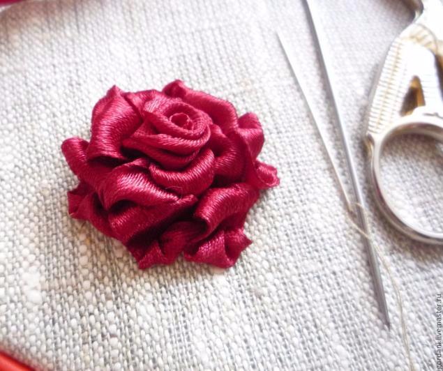 Роза. Вышивка лентами (31) (635x532, 263Kb)