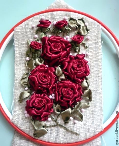 Роза. Вышивка лентами (33) (486x596, 278Kb)