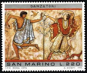 MiSM 1082 Paintings Etruskiers Римские танцоры (297x249, 57Kb)