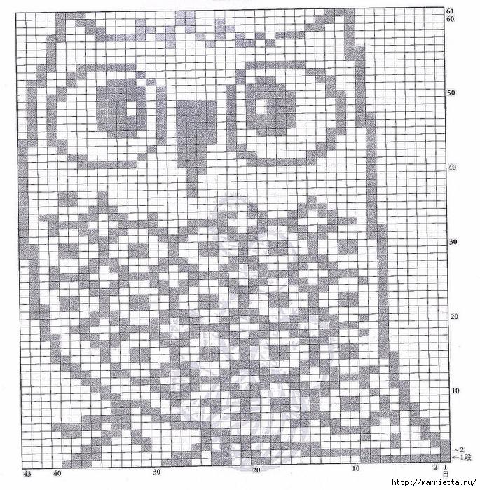 Рисунок с совами вязание 118