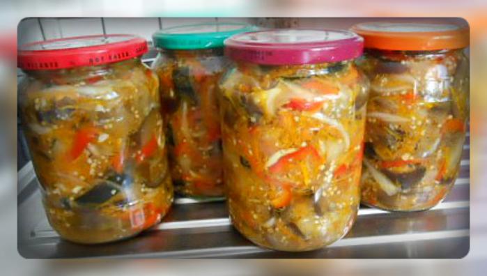 баклажаны по-корейски на зиму с капустой
