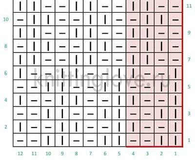 Диагональный-английский-узор-вязание-спицами-схема (400x329, 90Kb)