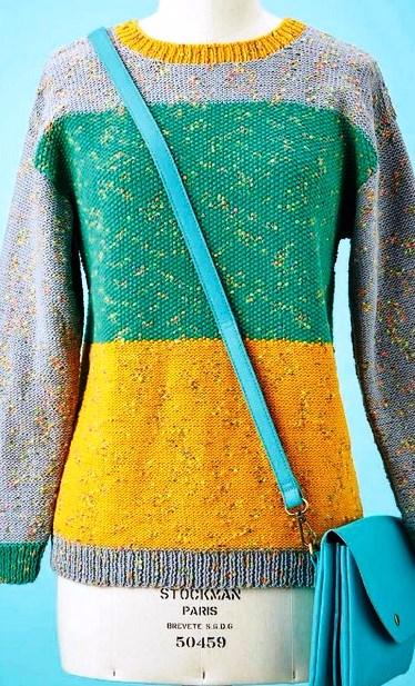 Трехцветный Пуловер С Доставкой