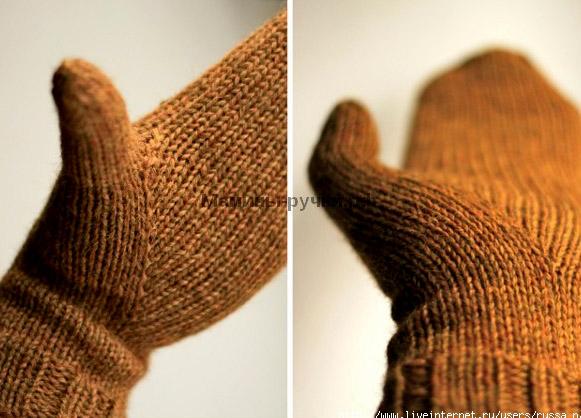 Вязание спицами большого пальца клином