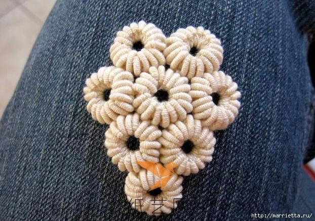Шнурковое румынское кружево. Объемные цветочки (1) (622x437, 191Kb)