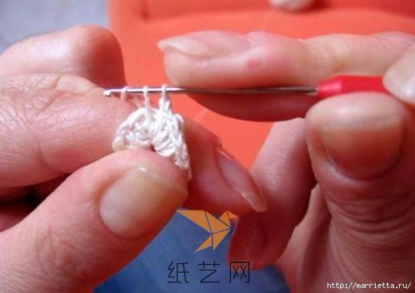 Шнурковое румынское кружево. Объемные цветочки (13) (593x419, 99Kb)