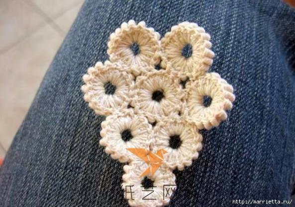 Шнурковое румынское кружево. Объемные цветочки (17) (593x417, 151Kb)