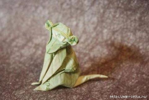 Обезьянка в технике оригами из бумаги (1) (480x322, 72Kb)