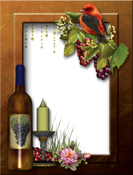 6032303_Transparent_PNG_Photo_Frame_with_Wine (457x600, 420Kb)