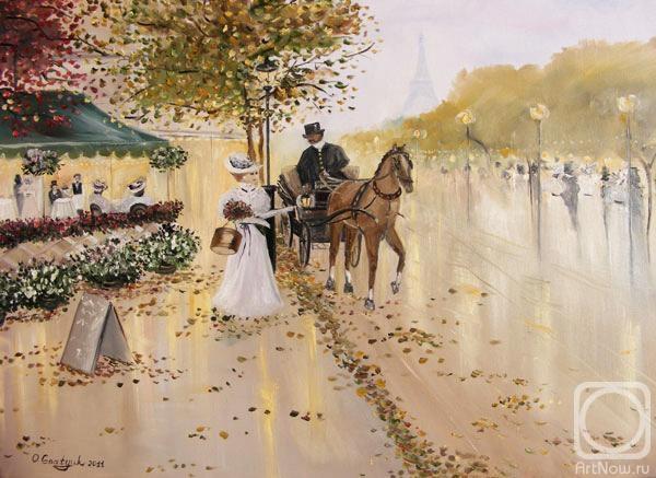 Золотая осень в Париже (600x437, 166Kb)