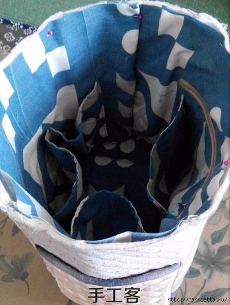 Лоскутная сумочка с птичкой и лавандой. Шьем сами (11) (463x614, 167Kb)