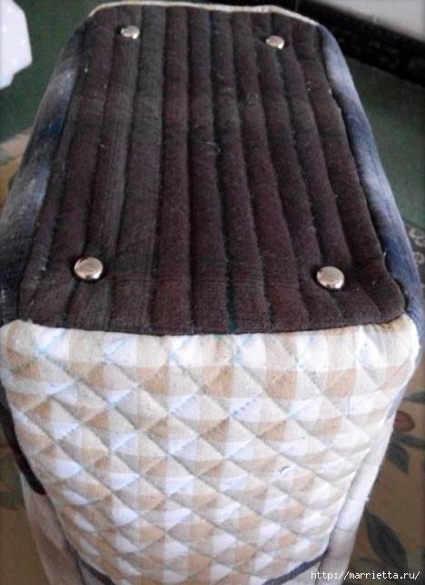 Лоскутная сумочка с птичкой и лавандой. Шьем сами (13) (468x643, 169Kb)