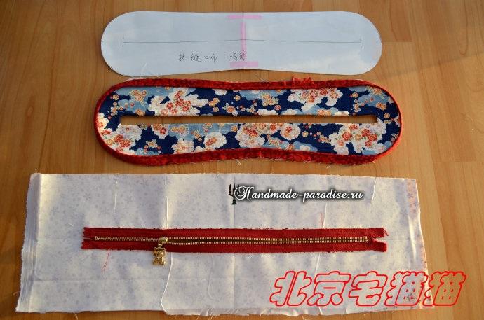 Круглая сумочка с кожаными ручками. Шьем сами (13) (690x457, 282Kb)