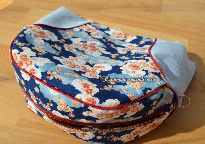 Круглая сумочка с кожаными ручками. Шьем сами (17) (686x482, 353Kb)