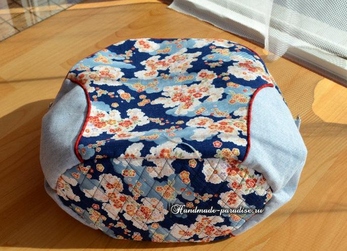 Круглая сумочка с кожаными ручками. Шьем сами (23) (686x497, 374Kb)