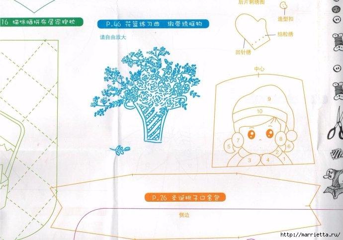 Аппликация на детских кошельках и сумочках. Шаблоны (12) (690x483, 174Kb)
