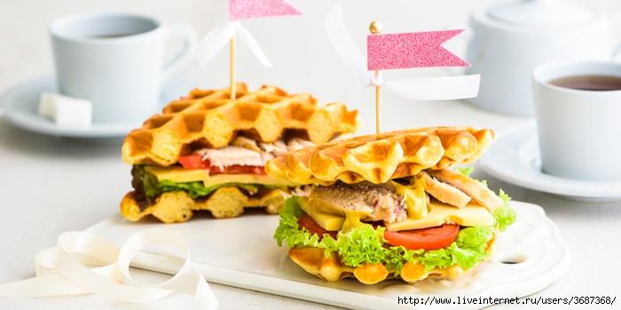 Горячий сэндвич с курицей, сыром и помидорами (700x350, 167Kb)