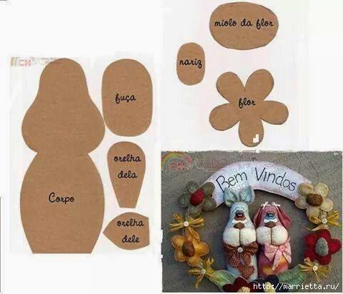 Детские текстильные венки, с петушками и собачками (1) (480x412, 92Kb)