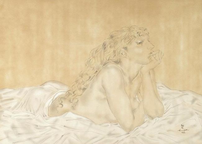 1932_Лежащая обнаженная, Мадлен (Nu Allonge, Madeleine) (650x463, 190Kb)