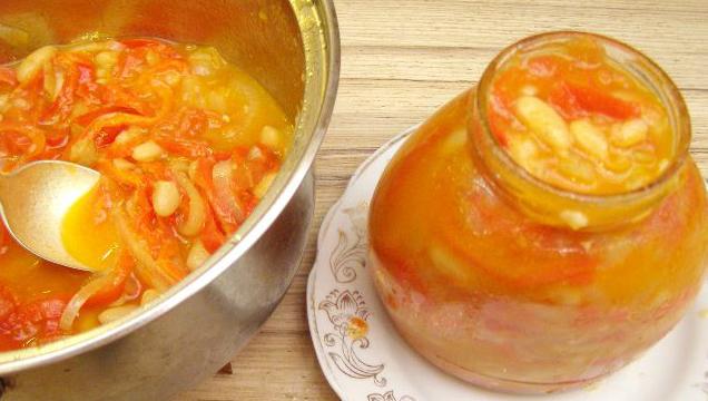 Салат из перца и фасоли на зиму (636x360, 275Kb)