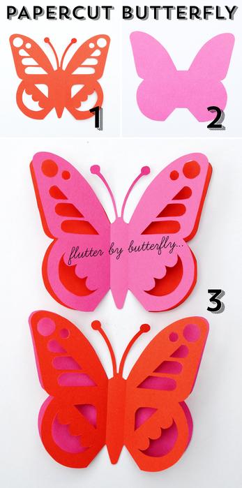 Бабочка своими руками из бумаги шаблоны для вырезания