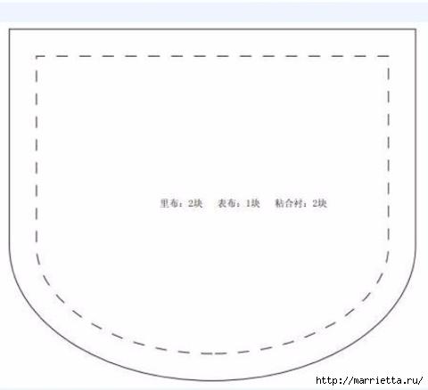 Кошелек КОШЕЧКА. Выкройка (3) (480x438, 41Kb)
