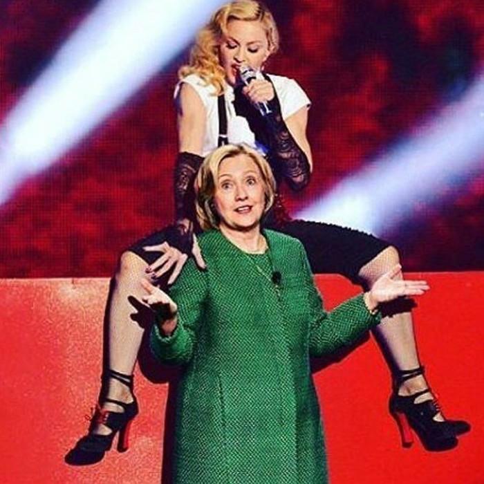 Голосуй голой! Мадонна разделась догола, чтобы поддержать Хиллари Клинтон в избирательной кампании