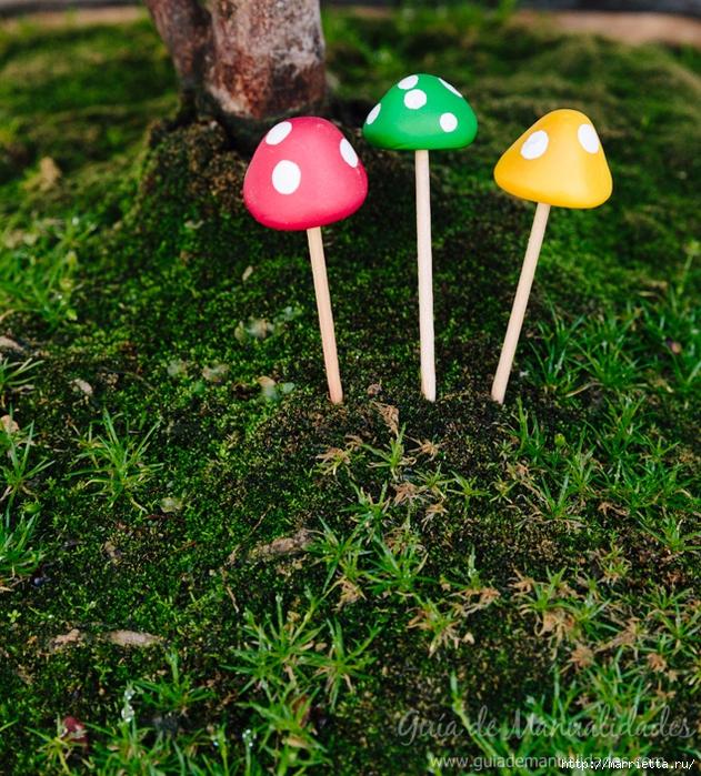 Миниатюрные грибочки из полимерной глины (11) (631x700, 499Kb)