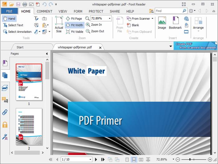 Бесплатная программа Foxit PDF Reader для просмотра и редактирования