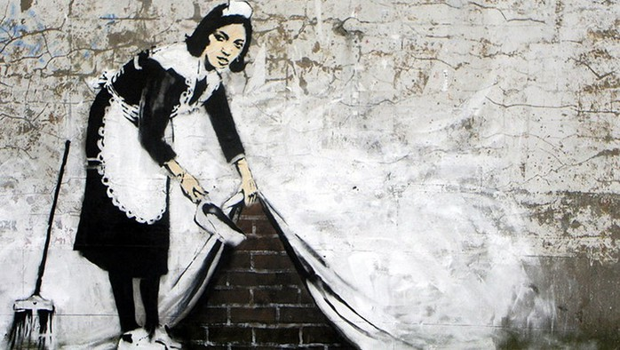 Как выглядит Бэнкси — британский уличный художник попал на видео в Австралии