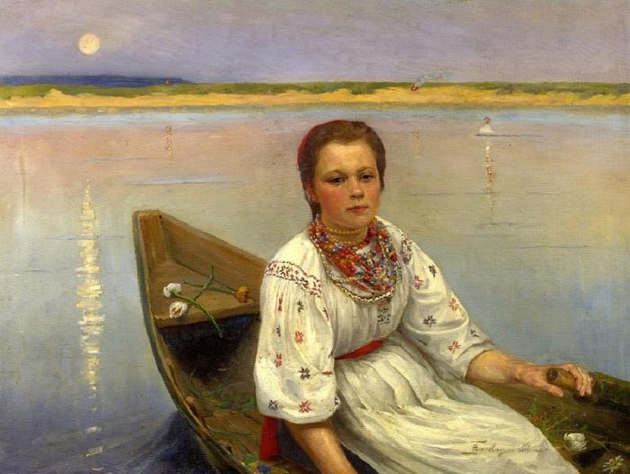 Благовещенский-Николай-Дмитриевич-1868-после-1917-На-реке (700x526, 127Kb)