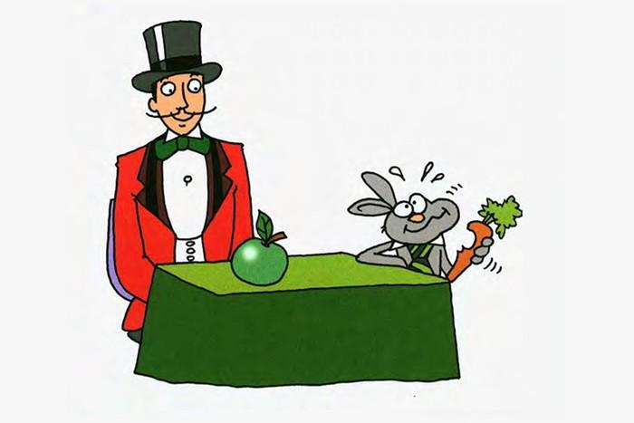 «Прыгучее яблоко»   фокус иллюзия для дружной компании