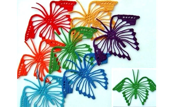 Схемы вязания бабочки крючком (1) (604x375, 217Kb)