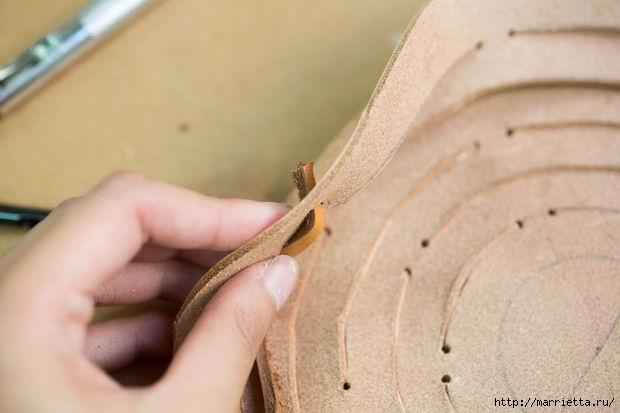 Подвесное кашпо из кожи своими руками (17) (620x413, 109Kb)