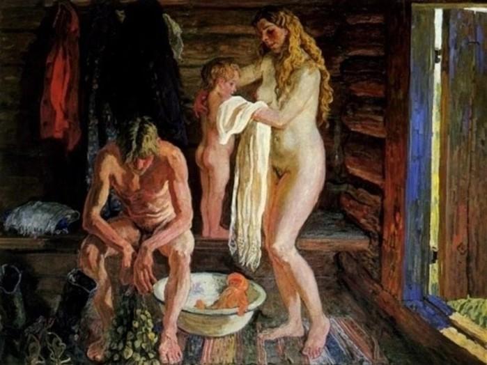 Правда ли в средневековой Руси мужчины и женщины и мужчины мылись вместе