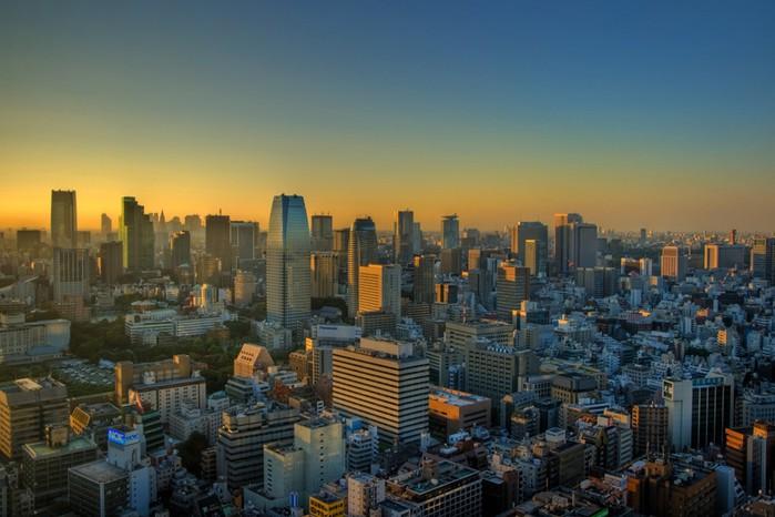 Красивые HDR фотографии столицы Японии, Токио
