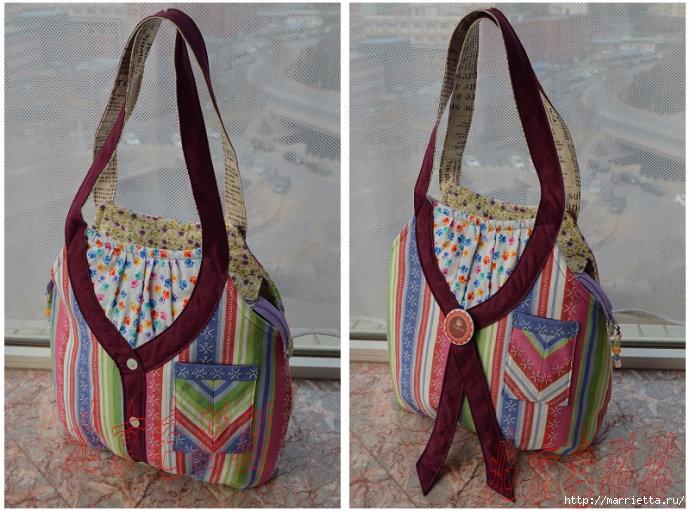 Шьем сумку интересного дизайна. Выкройка и мк (1) (690x511, 283Kb)