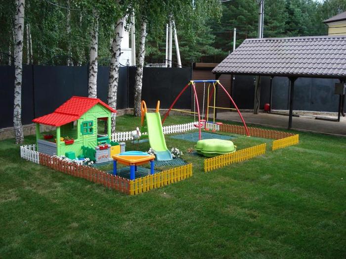 Детская площадка своими руками: фото-идеи 77