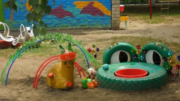 Обустраиваем детскую площадку на дачном участке (3) (700x393, 313Kb)
