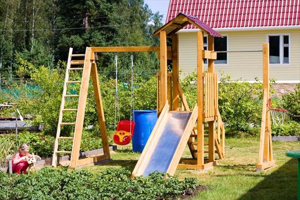Обустраиваем детскую площадку на дачном участке (7) (590x393, 350Kb)