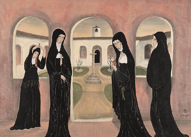 + Nuns in Couvent Yard (652x468, 325Kb)