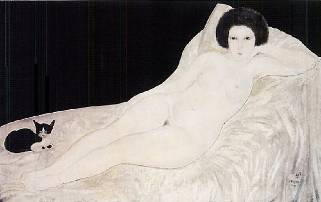 - Reclining Nude with a Cat (651x410, 172Kb)