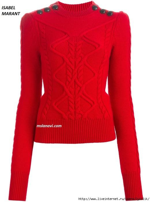 Вязаный-свитер-спицами-ISABEL-MARANT (524x700, 137Kb)