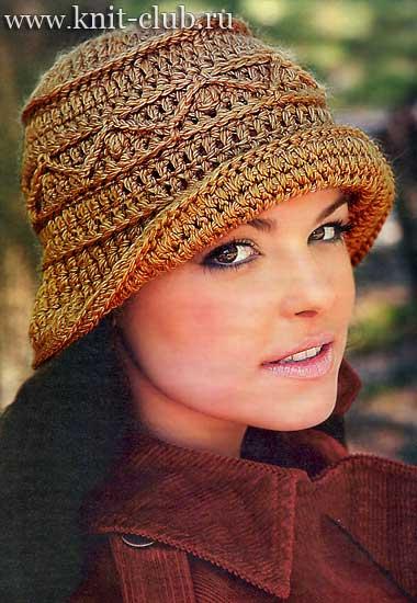 Вязание крючком дамские шляпки модели и схемы фото 264-175