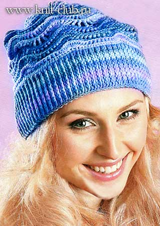 Схема вязания шапки крючком для женщин