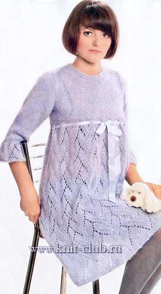25 петелек ру красивые вязаные женские платья