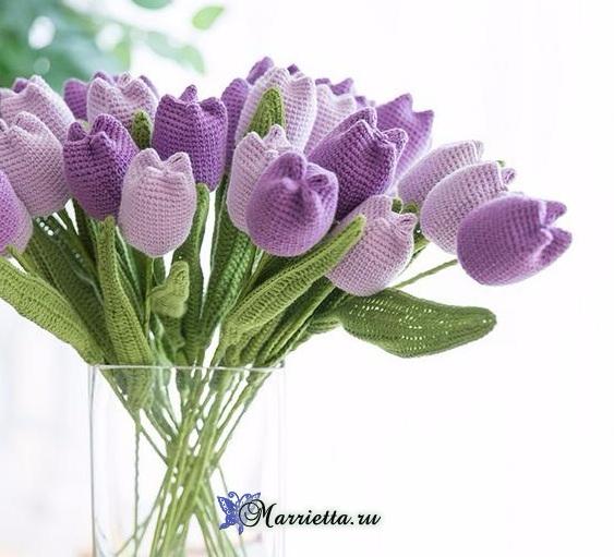 Вяжем крючком цветы - ТЮЛЬПАНЫ (6) (563x511, 222Kb)
