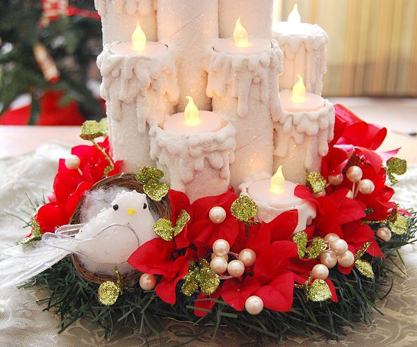 Сказочные праздничные свечи - просто! (мастер-класс)